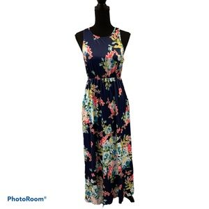 Unbranded Floral Sleeveless Maxi dress Small